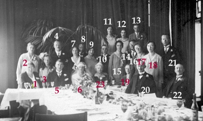 Truus Ladru en Toon Blom huwelijk aug 1930 met namen