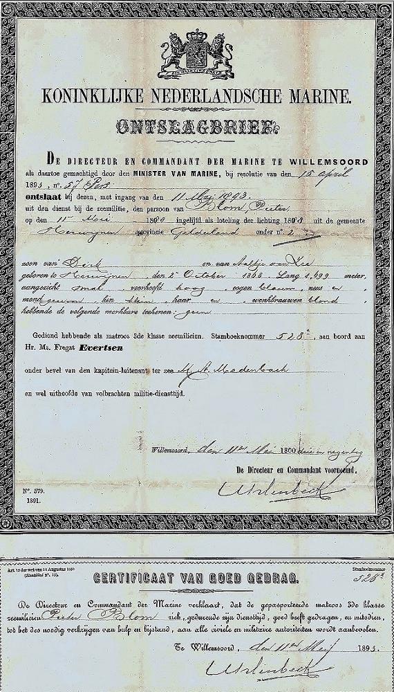 ontslag brief marine opa Pieter Blom (570x1000)