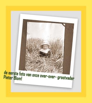 1e foto opa Pieter Blom