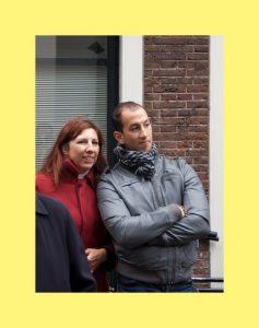 Manon (dochter van Dick en Lettie)en haar partner Hamidou