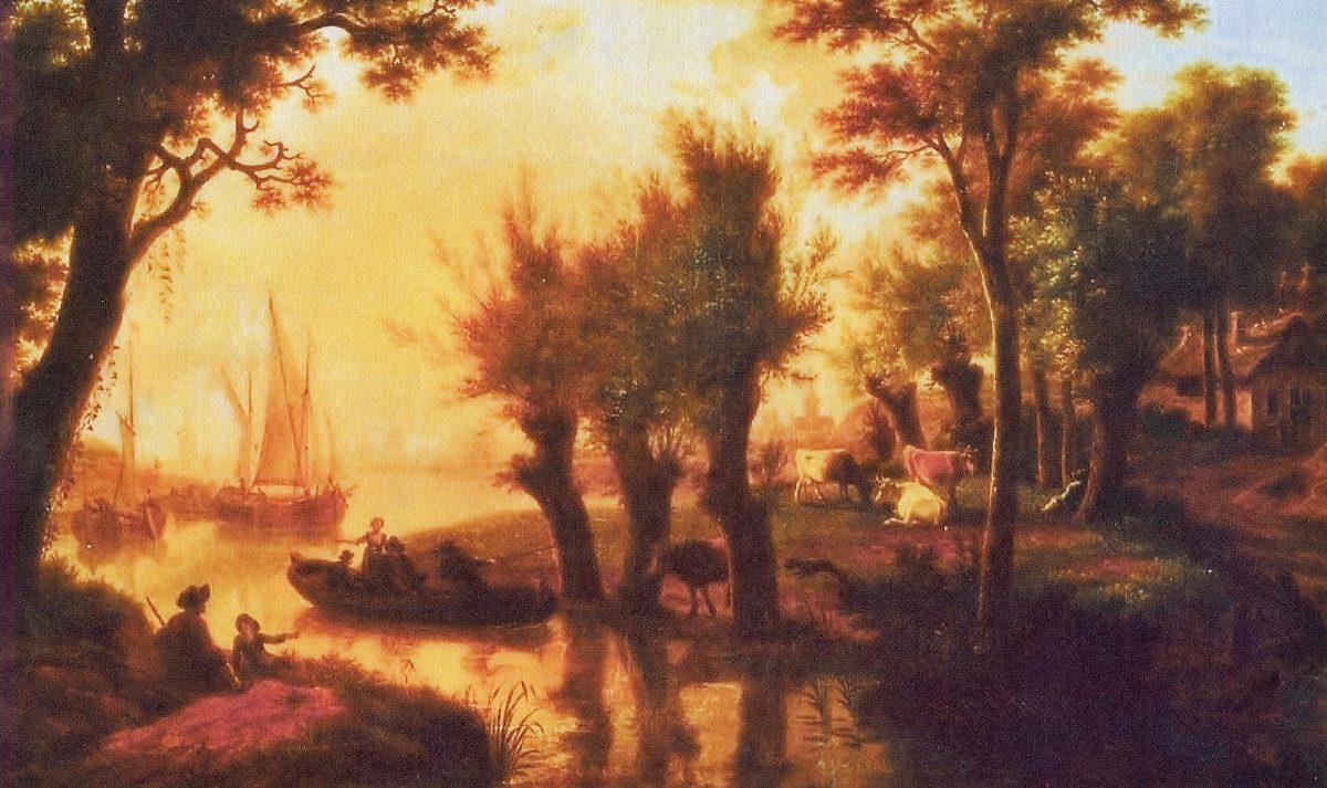 aan de rivier 1e helft 19e eeuw