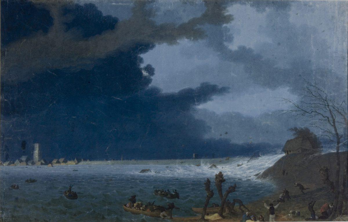 dijkdoorbraak Waaldijk bij Tiel 1830