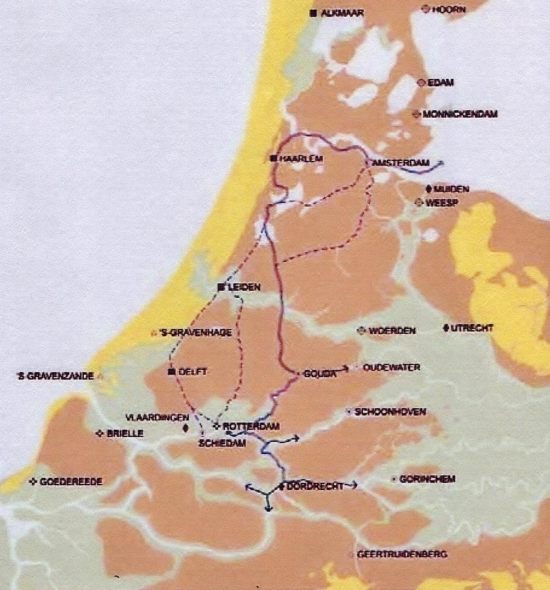 hoofdvaarroute waal-adam tot in de 19e eeuw